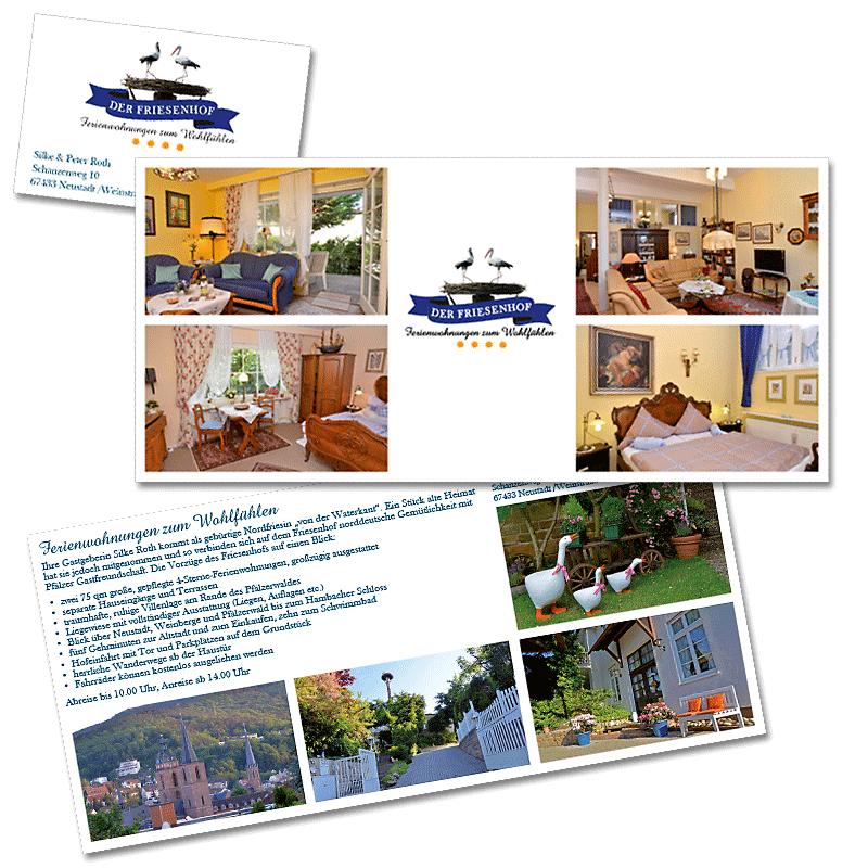 Design + Inhalte dienen der Vorstellung der Ferienwohnung