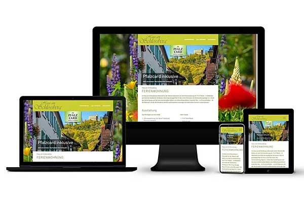 Ferienwohnung - Online-Auftritt, Fotografie, typografisches Logo, Unique-Content-Konzept
