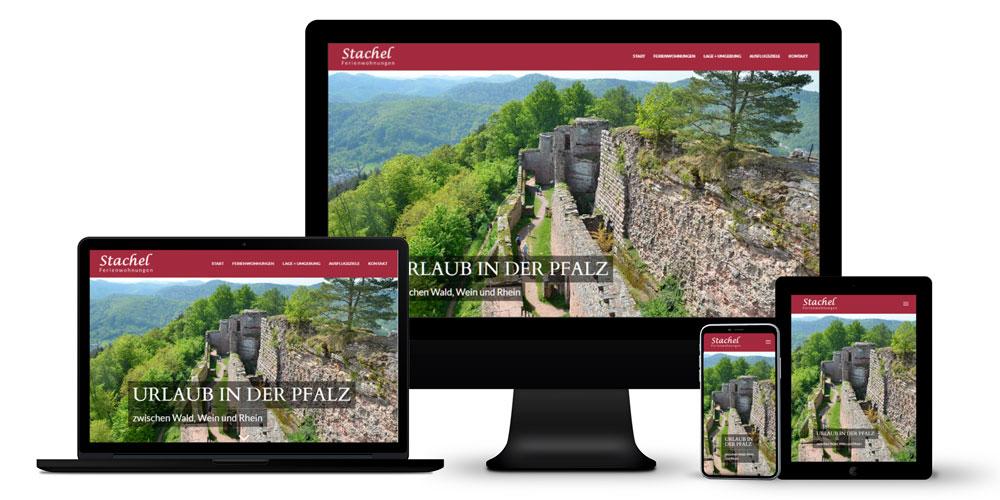 3 Ferienwohnungen - Online-Auftritt, typografisches Logo, Fotografie