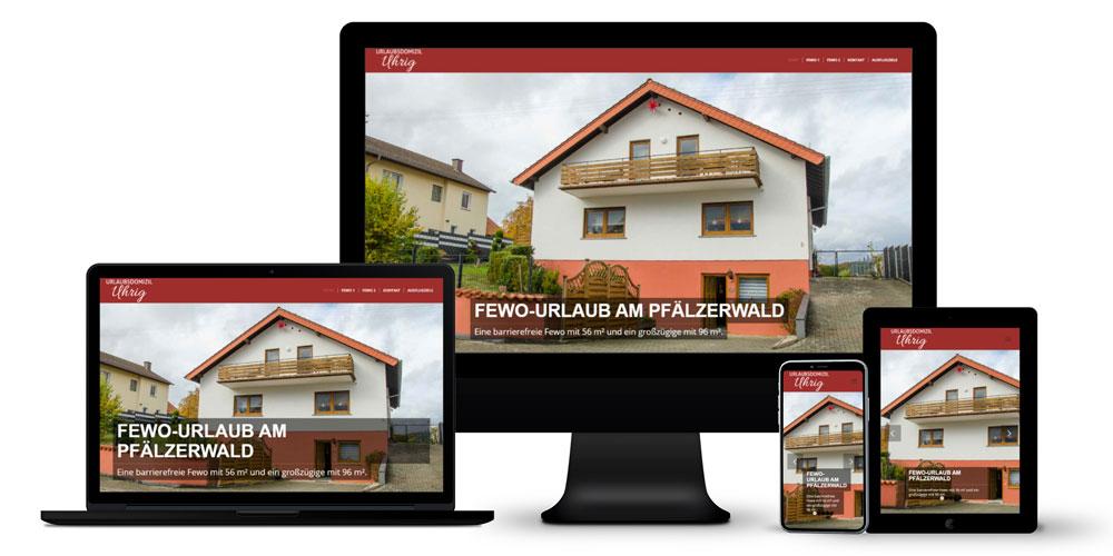 2 Ferienwohnungen - Online-Auftritt, typografisches Logo, Fotografie