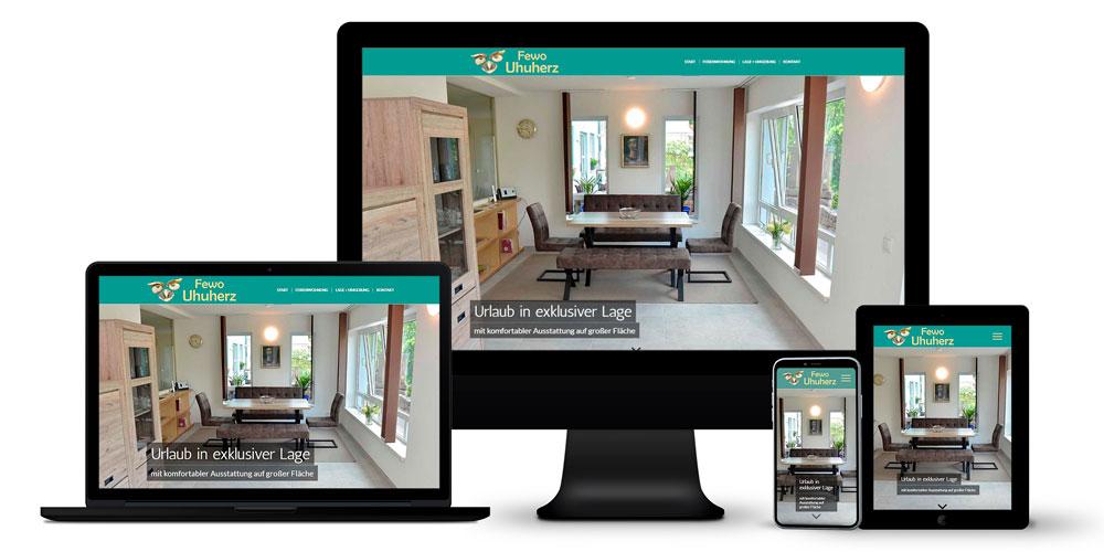 Ferienwohnung - Online-Auftritt, Logo-Entwicklung, Fotografie