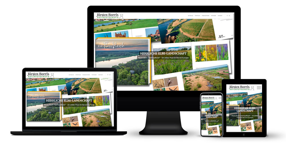Professioneller Naturfotograf - Online-Auftritt mit Blog