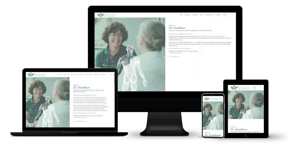 Ganzheitliche Arztpraxis - Online-Auftritt mit Blog, Newsletter, Spamschutzkonzept, Unique-Content-Konzept