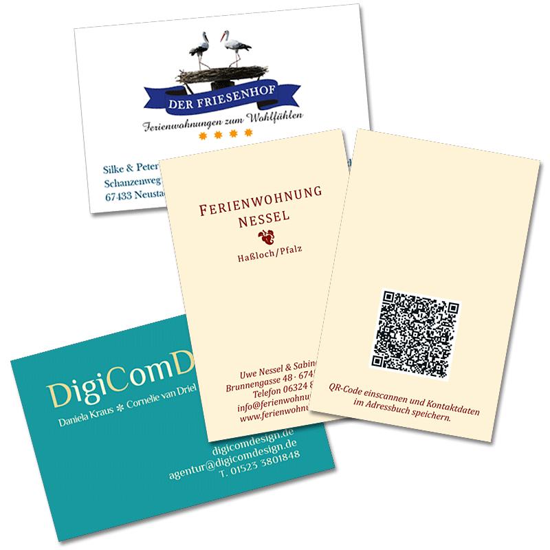 Visitenkarten mit Logos